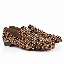men christian louboutin rollerboy spikes printed leopard print