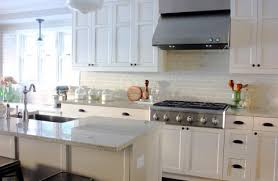 White Kitchen Cabinets With Green Tiles Design Ideas - White kitchen cabinets with white backsplash