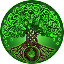celtic roots legendary tree of magical scroll tapestry w