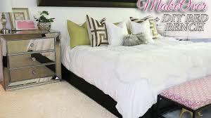 Diy Bedroom Bench Spring Room Makeover Diy Bed Bench 2017 Youtube