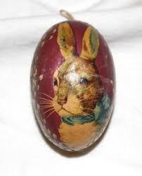 german paper mache easter eggs germany paper mache easter egg children with rabbit 3 olde eggs