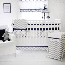 Unisex Nursery Bedding Sets by Amazon Com My Baby Sam Out Of The Blue Crib Bumper Navy Gray Baby