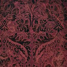 Burgundy Velvet Curtains Three Burgundy Coloured Cut And Uncut Velvet Curtains Circa 1900