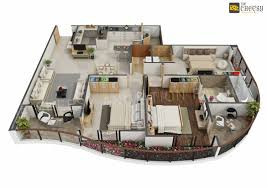 3d plans awesome new modern house 3d floor plan design on behance nurse