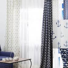 Navy Blue And White Curtains Curtains Cool Patterned Sofa With Navy Blue And White Drapes And