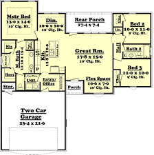 1 one story house plans with open concept rectangular 1500 sq ft
