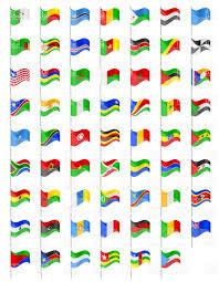 Flags Of Countries Flags Of Countries Of Africa Royalty Free Vector Clip Art Image