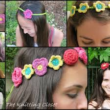 crochet flower headband shop crochet headband pattern on wanelo