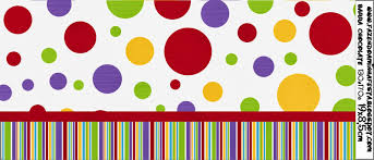 colour spots free printable candy bar labels is it for parties
