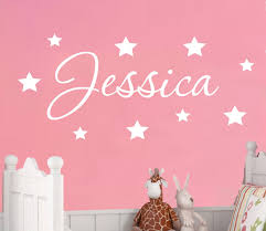 compare prices on childrens sticker wall online shopping buy low d198 personalised name wall sticker decal door boys girls childrens nursery w stars china
