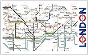map of the underground in signs unique underground map tea towel ba