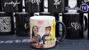 Color Changing Mugs How To Sublimate Engraving Color Changing Mugs Youtube