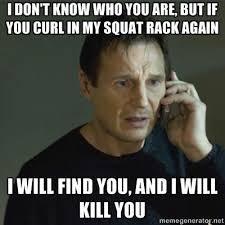Squat Meme - curling in the squat rack meme lifting bro