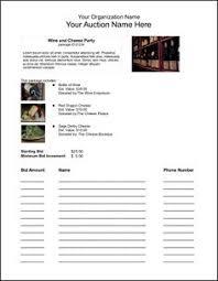 bid sheet event u0026 party pinterest grant writing fundraising