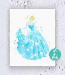 Etsy Nursery Decor Popular Items For Princess On Etsy Cinderella Print Disney
