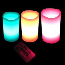 3 candle electric light new 3pcs led flameless candle l color changing candle light with