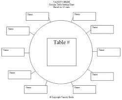 Wedding Seating Chart Template Printable table assignment template search wedding