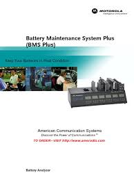 motorola battery maintenance bms plus lithium ion battery