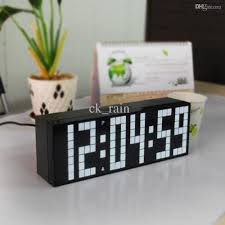 2017 large jumbo led white clock display table desk wall alarm