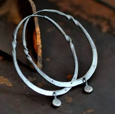 silver hoops sterling silver hoop earrings with a twist and dangle large