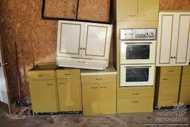 Vintage Kitchen Cabinet Harvest Gold Kitchen Cabinets Vintage St Charles Retro Renovation