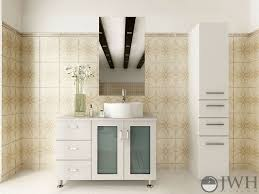 39 white lune single bathroom vanity bathgems