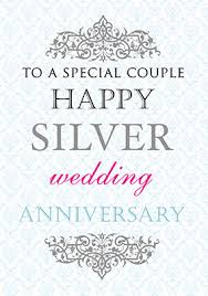 25th silver wedding anniversary cards funky pigeon