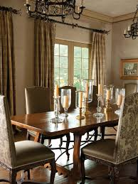 interior design french dining room with hurricane candle holder