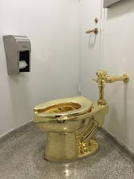 waiting to in u201camerica u201d the gold toilet at the guggenheim