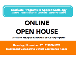 graduate programs in applied sociology online open house