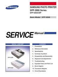 samsung spp 2000 and spp 2020 xip service manual electrostatic
