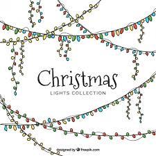 set of hand drawn christmas lights vector free download