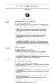 Resume Examples For Teachers by Special Education Teacher Resume Samples Visualcv Resume Samples