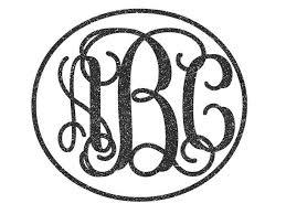 monogram stickers interlocking monogram car decal w glitter vinyl potty