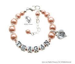 Baby Name Bracelet 97 Best Baby Bracelets Images On Pinterest Baby Bracelet Girls