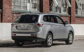 subaru outlander 2014 2013 vs 2014 mitsubishi outlander styling showdown truck trend