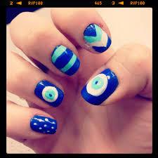 evil eye nail art my nails pinterest evil eye nails