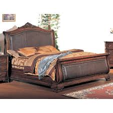 King Size Leather Headboard Brilliant Bedroom Vintage With Sleigh Beds King Size Bed Within