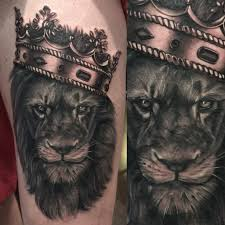 and crown tattoos lions crown and
