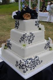 white and navy blue wedding cake wedding cake topper raleigh