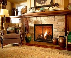 stone fireplace decor beautiful stone fireplace design with rug and wooden floor ideas