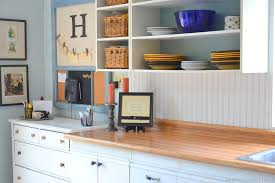 Wainscoting Backsplash Kitchen Kitchen Affordable Kitchen Idea With White Bead Board And Wooden