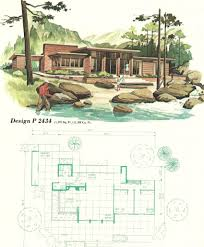 house plan vintage house plans vacation homes 1960s house