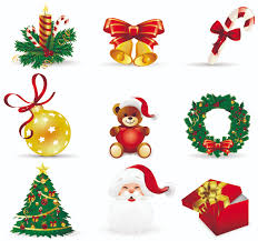 Decoration Christmas Vector by Beautiful Christmas Icons Vector Free Vector Clip Art Library