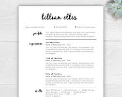 Free Cover Letter And Resume Templates Free Resume Template Etsy