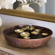 Mirrors In Living Room Nice Pottery Floor Indoor Water Fountains With Green Flowers As