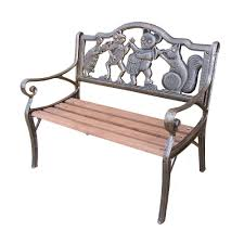 garden decorative bench with animal band design hd6010 ab the