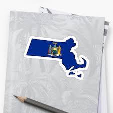 New Yorks Flag New York Flag Massachusetts Outline