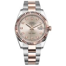 rolex steel oyster bracelet images Rolex datejust ii steel and rose gold sundust diamond dial 41mm jpg
