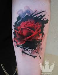 elegant rose tattoos for sleeves worlds style